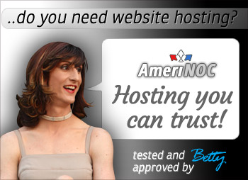 Betty recommends Amerinoc - hosting you can trust. Starting  from  $4.95 a moth.